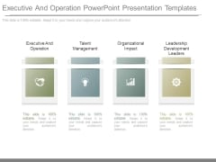 Executive And Operation Powerpoint Presentation Templates