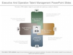 Executive And Operation Talent Management Powerpoint Slides