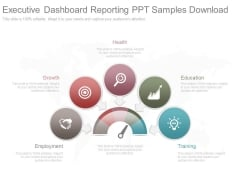 Executive Dashboard Reporting Ppt Samples Download