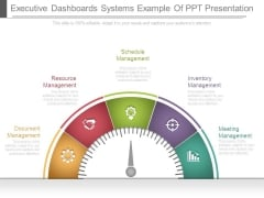 Executive Dashboards Systems Example Of Ppt Presentation