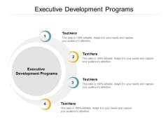 Executive Development Programs Ppt PowerPoint Presentation Gallery Slideshow Cpb