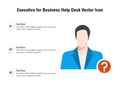 Executive For Business Help Desk Vector Icon Ppt PowerPoint Presentation Gallery Design Ideas PDF