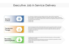 Executive Job In Service Delivery Ppt PowerPoint Presentation Gallery Rules PDF