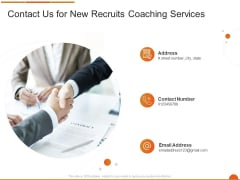 Executive Job Training Contact Us For New Recruits Coaching Services Background PDF