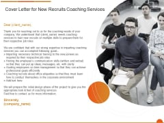 Executive Job Training Cover Letter For New Recruits Coaching Services Background PDF