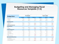Executive Leadership Programs Budgeting And Managing Fiscal Resources Template Expenses Ppt Visual Aids Example 2015 PDF