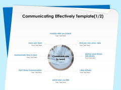 Executive Leadership Programs Communicating Effectively Template Team Ppt Layouts Slide PDF