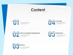 Executive Leadership Programs Content Ppt Portfolio Layout PDF