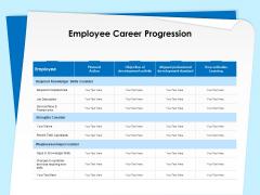 Executive Leadership Programs Employee Career Progression Ppt Slides Visuals PDF