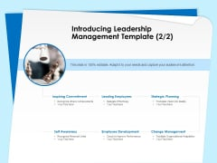 Executive Leadership Programs Introducing Leadership Management Template Commitment Ppt Slides Gridlines PDF