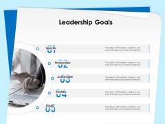 Executive Leadership Programs Leadership Goals Ppt Portfolio Outline PDF
