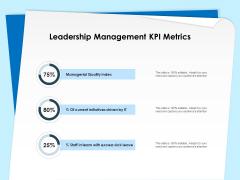 Executive Leadership Programs Leadership Management KPI Metrics Ppt PowerPoint Presentation Infographics Format Ideas PDF