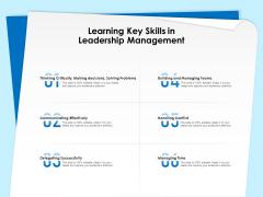 Executive Leadership Programs Learning Key Skills In Leadership Management Ppt PowerPoint Presentation Ideas File Formats PDF