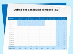 Executive Leadership Programs Staffing And Scheduling Template Cost Ppt PowerPoint Presentation Infographics Graphics PDF