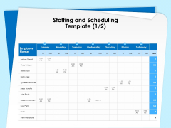 Executive Leadership Programs Staffing And Scheduling Template Employee Ppt PowerPoint Presentation Summary Aids PDF