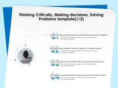 Executive Leadership Programs Thinking Critically Making Decisions Solving Problems Template Investigation Template PDF