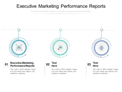 Executive Marketing Performance Reports Ppt PowerPoint Presentation Inspiration Slide Download Cpb