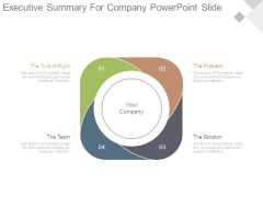 Executive Summary For Company Powerpoint Slide