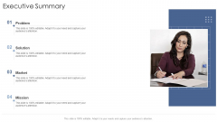 Executive Summary Startup Business Strategy Ppt Model Design Ideas PDF