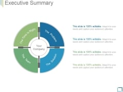 executive summary - slide geeks, Presentation templates