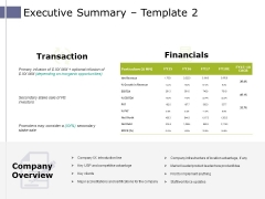 Executive Summary Template 2 Ppt PowerPoint Presentation Professional Microsoft
