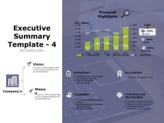 Executive Summary Template 4 Ppt PowerPoint Presentation Outline Slides