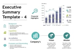 Executive Summary Template 4 Ppt PowerPoint Presentation Outline Visuals