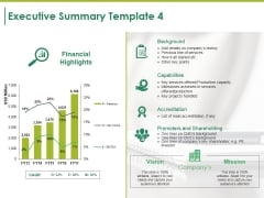Executive Summary Template 4 Ppt PowerPoint Presentation Pictures File Formats