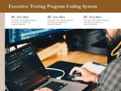 Executive Testing Program Coding System Ppt PowerPoint Presentation Slides Aids PDF