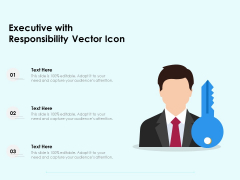 Executive With Responsibility Vector Icon Ppt PowerPoint Presentation File Background Images PDF
