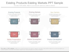 Existing Products Existing Markets Ppt Sample