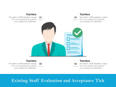 Existing Staff Evaluation And Acceptance Tick Ppt PowerPoint Presentation Professional Example File PDF