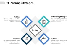 Exit Planning Strategies Ppt PowerPoint Presentation Portfolio Graphics Pictures Cpb