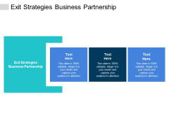 Exit Strategies Business Partnership Ppt PowerPoint Presentation Professional Show Cpb