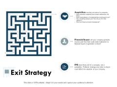 Exit Strategy Business Ppt Powerpoint Presentation Ideas Gallery