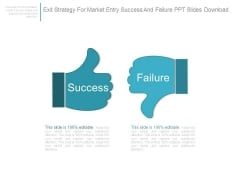 Exit Strategy For Market Entry Success And Failure Ppt Slides Download