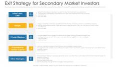 Exit Strategy For Secondary Market Investors Ppt Portfolio Professional PDF