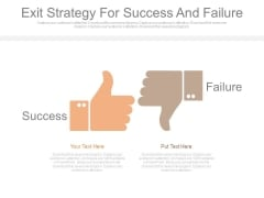 Exit Strategy For Success And Failure Ppt Slides