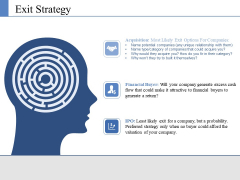 Exit Strategy Ppt PowerPoint Presentation Ideas Grid