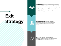 Exit Strategy Ppt PowerPoint Presentation Infographics Outfit