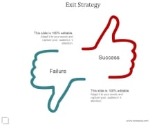 Exit Strategy Ppt PowerPoint Presentation Infographics