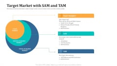 Expand Your Business Through Series B Financing Investor Deck Target Market With SAM And TAM Icons PDF
