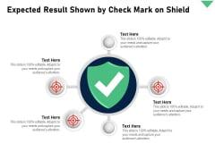 Expected Result Shown By Check Mark On Shield Ppt PowerPoint Presentation Gallery Summary PDF