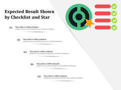 Expected Result Shown By Checklist And Star Ppt PowerPoint Presentation Gallery Graphic Images PDF