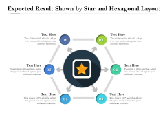 Expected Result Shown By Star And Hexagonal Layout Ppt PowerPoint Presentation Icon Example PDF