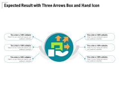 Expected Result With Three Arrows Box And Hand Icon Ppt PowerPoint Presentation Icon Inspiration PDF