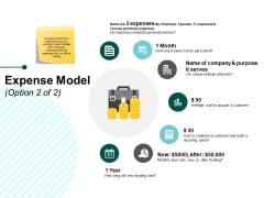 Expense Model Ppt PowerPoint Presentation Slides Styles
