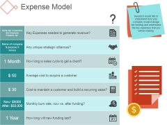 Expense Model Template 1 Ppt PowerPoint Presentation Rules