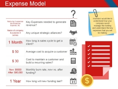 Expense Model Template 1 Ppt PowerPoint Presentation Slides Format Ideas
