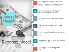Expense Model Template 2 Ppt PowerPoint Presentation Design Templates